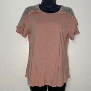 Hannah, Light Pink Top, with Floral, Small
